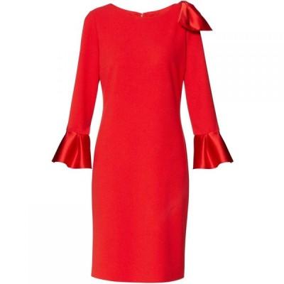 ジーナ バッコーニ Gina Bacconi レディース ワンピース ワンピース・ドレス Uma Scuba Crepe Dress Red