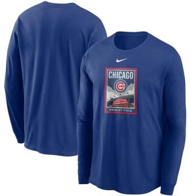 カブス MLB Tシャツ メンズ 長袖 ロンt ナイキ Nike ロイヤル Local Iconography Long Sleeve T-Shirt 21nrs