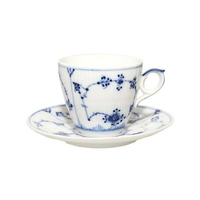 【訳あり】ROYAL COPENHAGEN ロイヤルコペンハーゲン ブルーフルーテッド プレイン コーヒーカップ&ソーサー 80