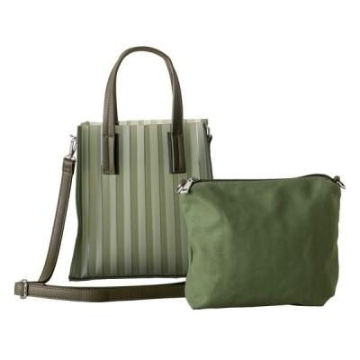 Sale[イマイバッグ] QUAY ビニールバッグ Sサイズ インナーポーチ付 バッグインバッグ レディース ショルダーバッグ 55173 グリーン