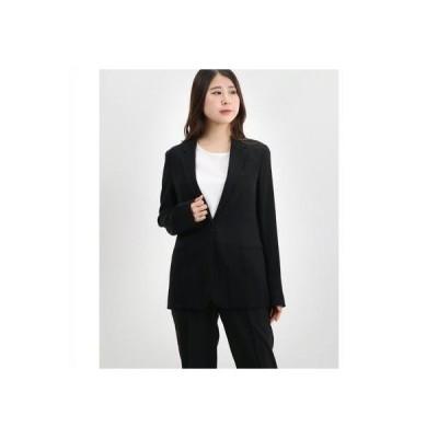 リネーム Rename シングルボタンシンプルジャケット (ブラック)