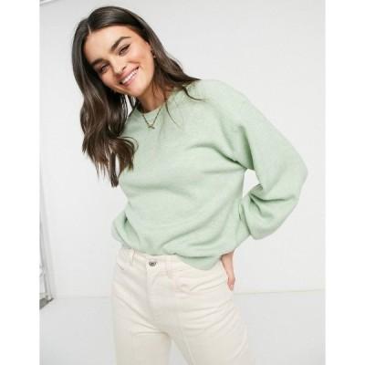 エイソス レディース ニット&セーター アウター ASOS DESIGN oversized fine crew neck sweater in green Green