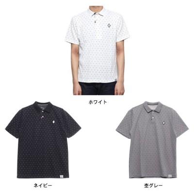 ドライMIXスラブカノコ総柄ダブルフェイス2Bポロシャツ