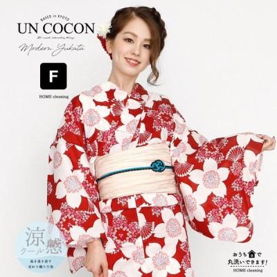 女性浴衣 レディース浴衣 浴衣 単品 浴衣単品 仕立て上がり レディース 女性用 フリー 白 ホワイト レッド 赤 桜 さくら