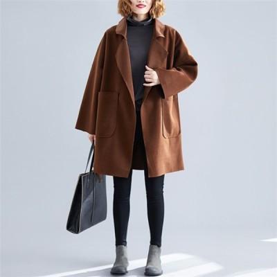 トレンチコート レディース アウター コート カーディガン 大きいサイズ 秋 ファッション ミドル丈 ジャケット カジュアル 30代