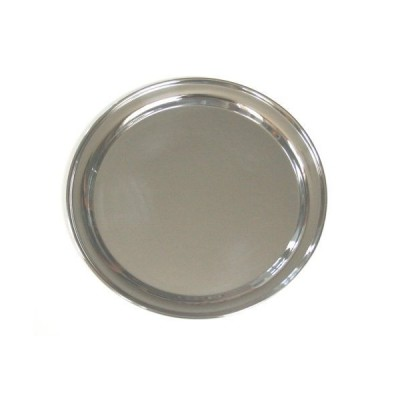 12 Inch Round Stainless Steel Serving Tray by Libertyware