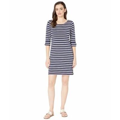 ハットレイ レディース ワンピース トップス Lucy Dress Classic Stripes Blue