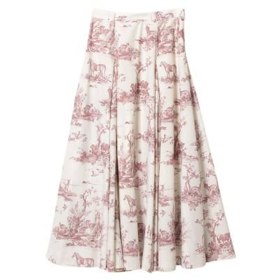 エイミーイストワール eimy istoire Hailey pattern ボリュームフレアースカート (PINK)