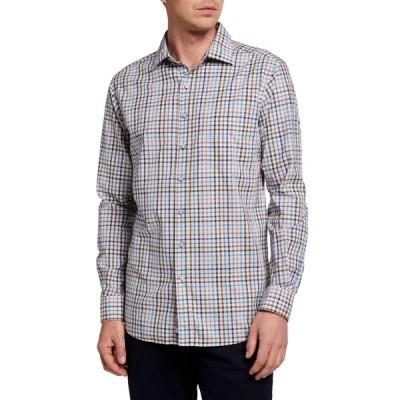 ロッドアンドグン メンズ シャツ トップス Men's Claverley Multicolor Check Sport Shirt
