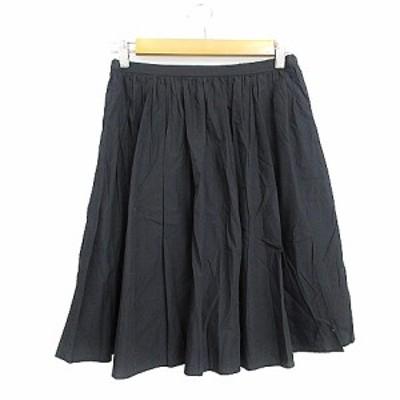 【中古】アーバンリサーチ ドアーズ URBAN RESEARCH DOORS スカート ギャザー ひざ丈 F 紺 ネイビー /AAM37