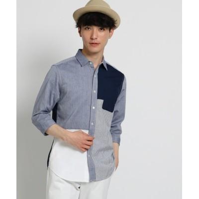 THE SHOP TK / 切替パナマシャツ MEN トップス > シャツ/ブラウス