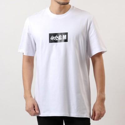 MSGM エムエスジーエム 3040 MM106 半袖 Tシャツ カットソー クルーネック ロゴT 01 メンズ