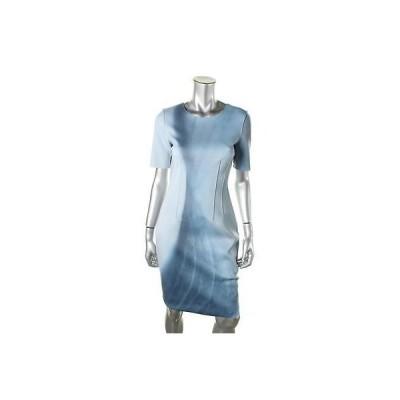 ドレス 女性  エリータハリ  Elie Tahari 8098 レディース Gwenyth ブルー Neoprene Wear to Work ドレス 4