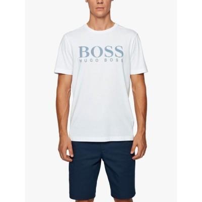 ヒューゴボス Tシャツ メンズ トップス BOSS Photo Print Logo T-Shirt, White