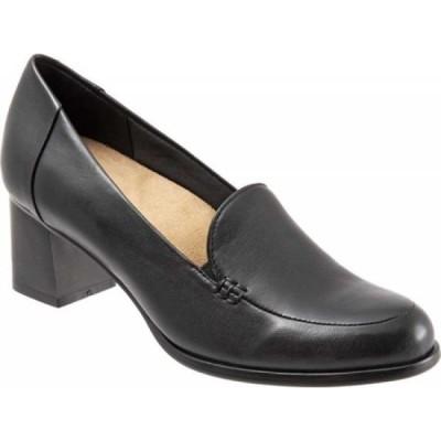 トロッターズ Trotters レディース スリッポン・フラット シューズ・靴 Quincy Slip-On Black Soft Nappa Leather