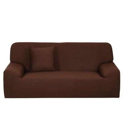 uxcell スリップカバー 家庭 椅子 ソファ カウチ ストレッチ プロテクター カバー スリップカバー チョコレート カラー 193-228cm