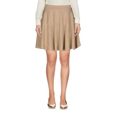 PHILIPP PLEIN ミニスカート ベージュ XS レーヨン 70% / ポリエステル 22% / ポリウレタン 8% ミニスカート