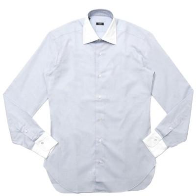 BARBA(バルバ)301 コットンピンオックスソリッドセミワイドカラークレリックシャツ I/301/TONDO/6622 11102204022