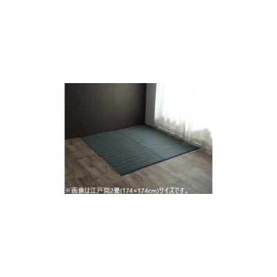 IKEHIKO イケヒコ メーカー直送代引不可  洗える PPカーペット アウトドア ペット ネイビー 本間2畳(約191×191cm) 2126512