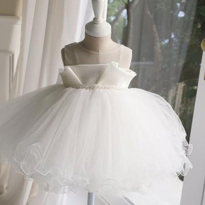 ベビードレス セレモニードレス ノースリーブ ベビードレス 新生児 ベビードレス 可愛いスタイル  撮影衣装 晴れ着 結婚式 女の子 ベビー フォーマル ベビー服