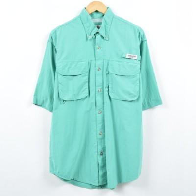 MAGELLAN 半袖 ボタンダウンフィッシングシャツ M /eaa040586
