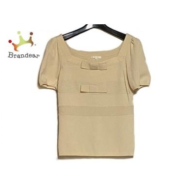 トゥービーシック TO BE CHIC 半袖セーター サイズ2 M レディース 美品 アイボリー リボン   スペシャル特価 20210106