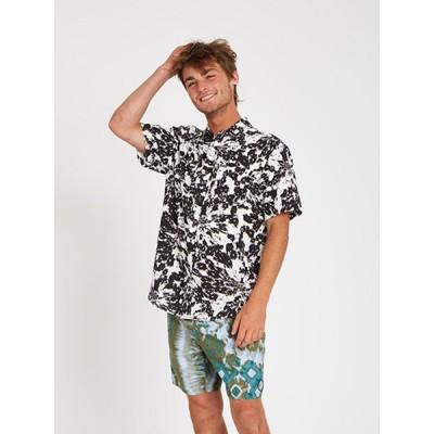 【】 VOLCOM ボルコム メンズ 半袖シャツ ショートスリーブシャツ A0412105 Striver S/S [WHT]