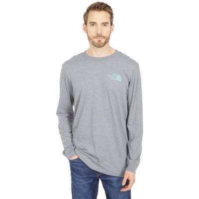 ノースフェイス シャツ トップス メンズ Long Sleeve TNF Sleeve Hit T-Shirt TNF Medium Grey Heather