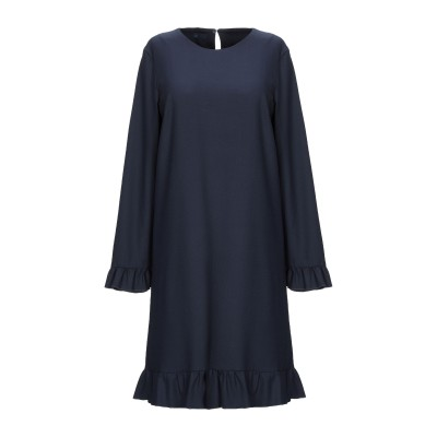 ブルー レ・コパン BLUE LES COPAINS ミニワンピース&ドレス ダークブルー 44 ポリエステル 53% / ウール 43% / ポリ