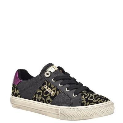 ゲス レディース スニーカー シューズ Loven4 Leopard Glitter Embellished Lace-Up Sneakers