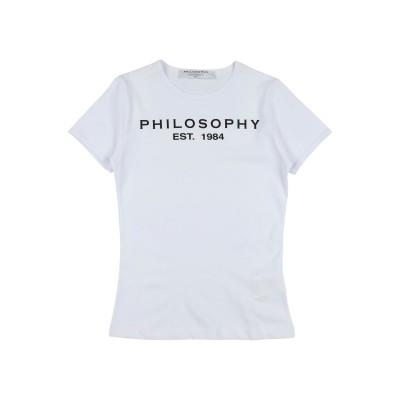 フィロソフィ ディ ロレンツォ セラフィニ PHILOSOPHY di LORENZO SERAFINI T シャツ ホワイト 4 コットン 100