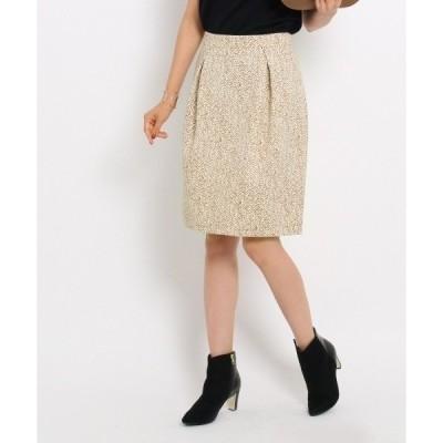 ◆【洗える】ヘリンボーンプリントスカート