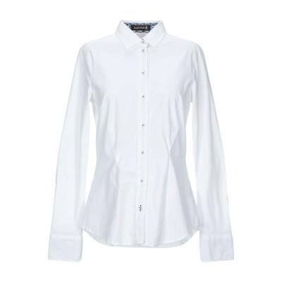 JACQUES BRITT シャツ ホワイト 34 コットン 73% / ナイロン 24% / ポリウレタン 3% シャツ