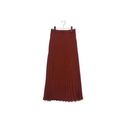 スタイルブロック STYLEBLOCK ジョーゼットプリーツスカート (テラコッタ)