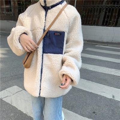 ボアブルゾン レディース パーカー ボジャケットフード付き 韓国風 秋冬 アウターコート もこもこ 防寒 冬 ゆったり アウトドア 暖かい あったか