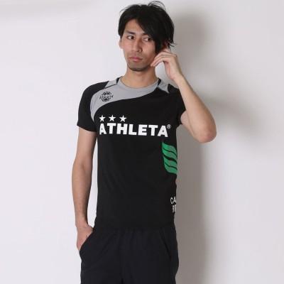 アスレタ ATHLETA サッカープラクティスシャツ マーク対応 AP-0125 ブラック×グレー (ブラックGY)
