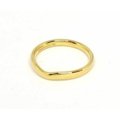 ティファニー エルサペレッティ ワイド カーブドバンドリング K18 21号 イエローゴールド 750YG 指輪 マリッジ ウエディング レディース
