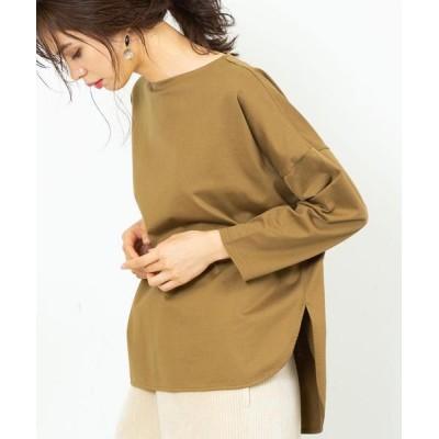 coen / 【WEB限定カラー】ボートネックシャツテールカットソー# WOMEN トップス > Tシャツ/カットソー