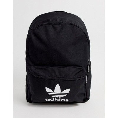 アディダス adidas Originals レディース バックパック・リュック バッグ Trefoil logo backpack in black ブラック