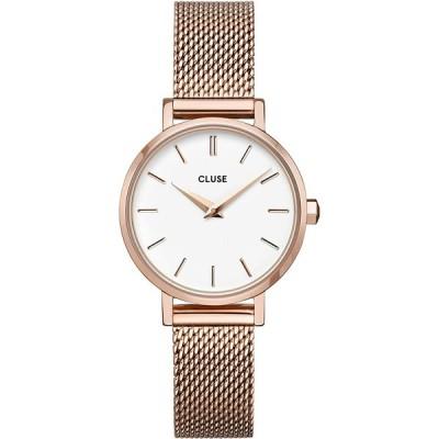 CLUSE クルース 国内正規品 ボーホーシック ペティット メッシュ ローズゴールド ホワイト/ローズゴールド レディース 腕時計 時計