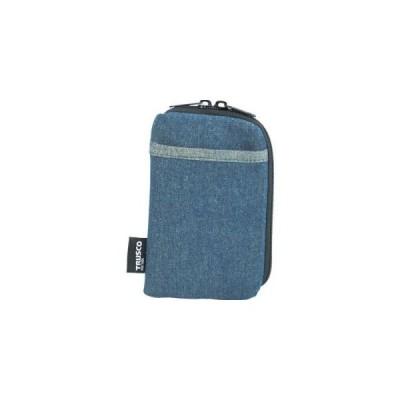 トラスコ デニムスマホケース 2ポケット ブルー TDC-S101