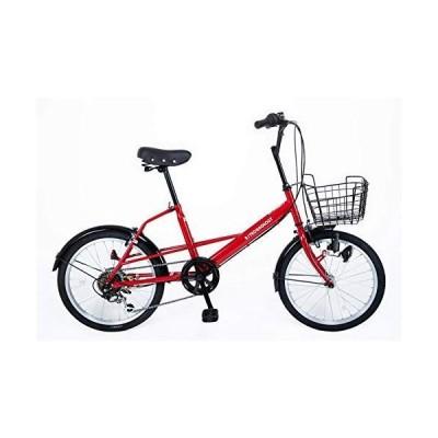 21Technology ミニベロ (20インチ) 小径車 シマノ6段変速ギヤ カゴ付き 自転車 シティサイクル 街乗り 通勤 通学 SK2