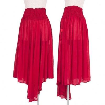 ワイズレッドレーベルY's red Label リネンギャザースカート 濃赤2 【レディース】