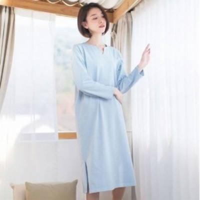ミモレ丈 ワンピース 大きいサイズ ゆったり 長袖 夏ワンピース 夏 リゾート リゾートワンピ 韓国 レディース ファッション ワンピース