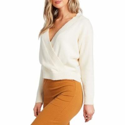 ビラボン BILLABONG レディース ニット・セーター トップス Carry On Wrap Sweater White Cap