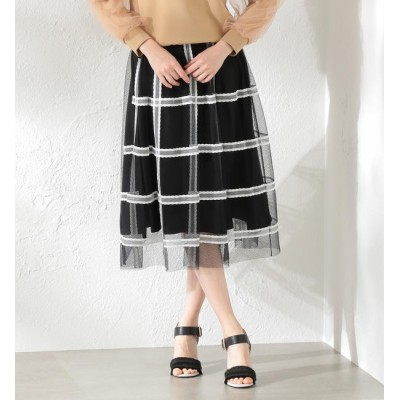 【ラブレス/LOVELESS】 【LOVELESS】WOMEN Creative line チュールチェックスカート