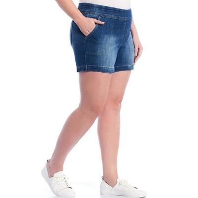 ウエストバウンド レディース ハーフパンツ・ショーツ ボトムス Plus Size the PARK AVE fit Denim Shorts