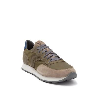 ジェオックス メンズ スニーカー シューズ Vincit Leather Sneaker MILITARY/SAND