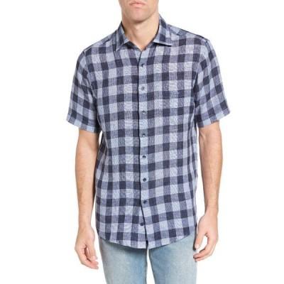ロッドアンドガン メンズ シャツ トップス Windwhistle Check Short Sleeve Original Fit Shirt STONEWASH
