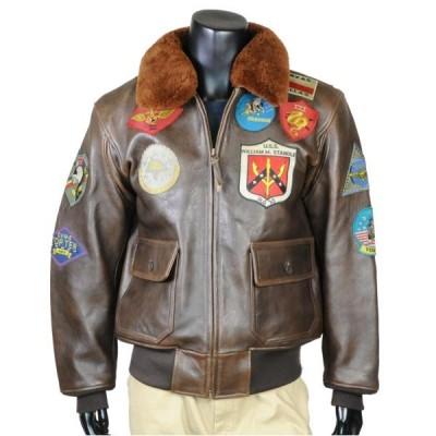AVIREX G-1 レザージャケット トップガン [ ブラウン / Lサイズ ] winter_spdl01 アヴィレックス アビレックス メンズ